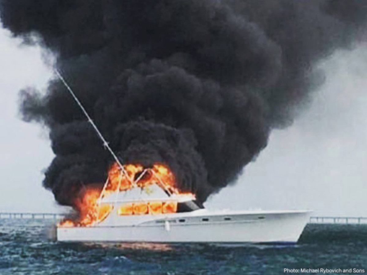 Iconic Fishing Boat Catches Fire off Boot Key
