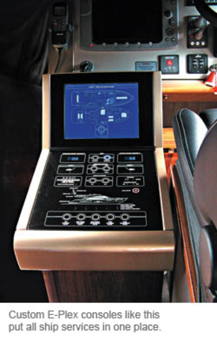 Custom E-Plex consoles like this put all ship services in one place.