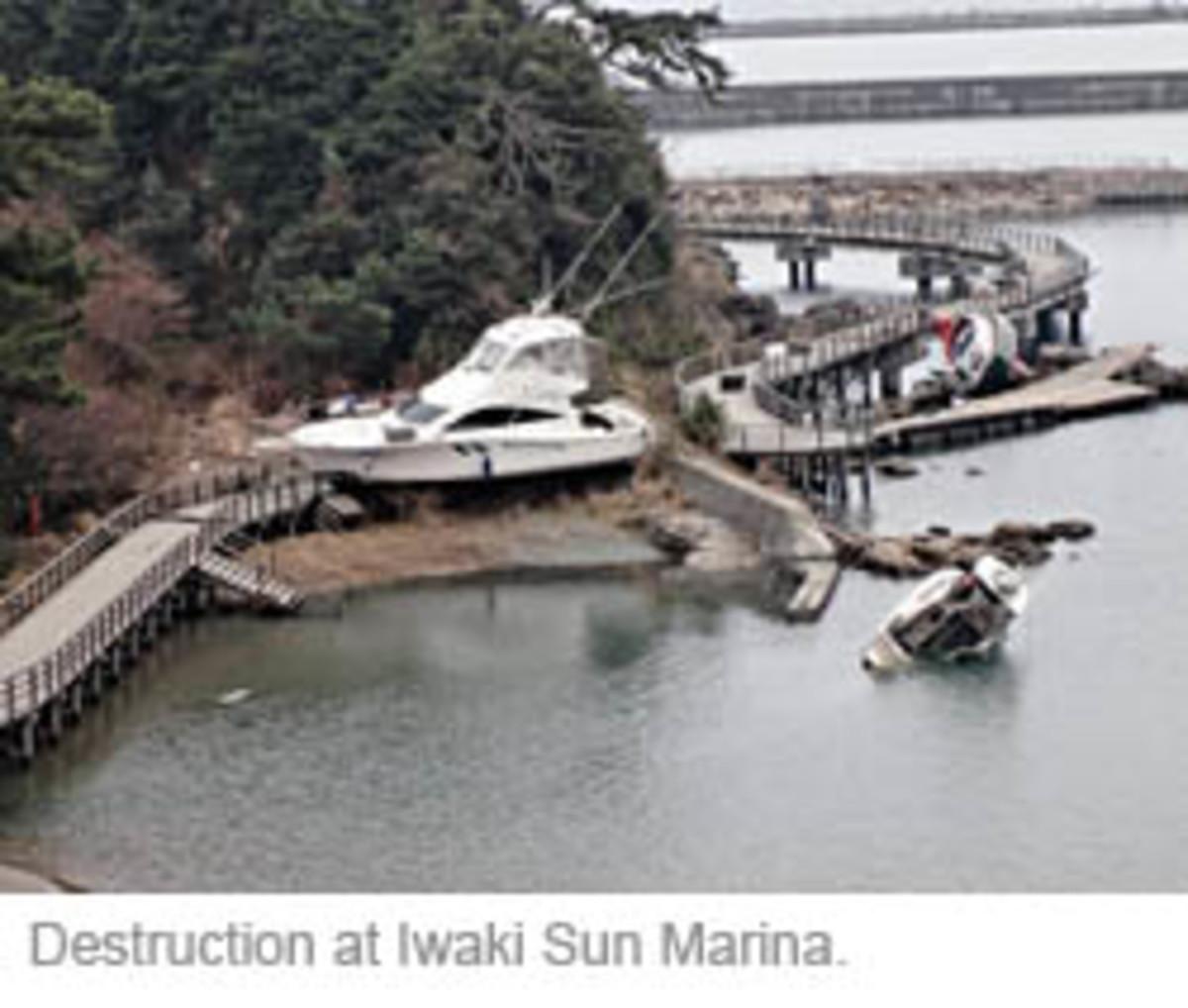 Destruction at Iwaki Sun Marina.