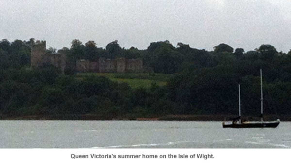 Queen Victoria's summer home on the Isle of Wight.