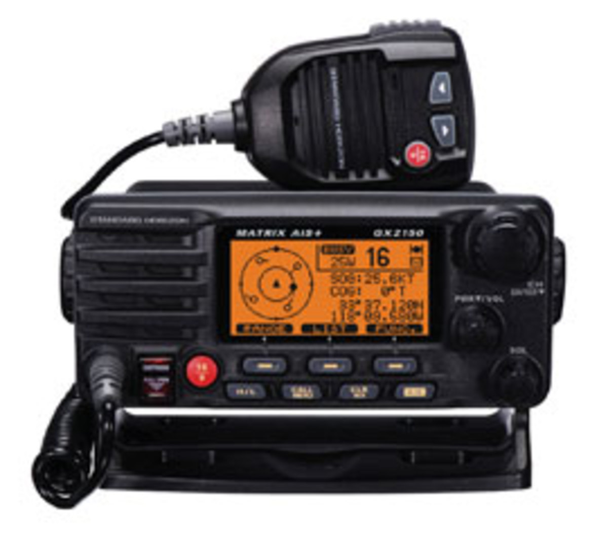 The Standard Horizon Matrix GX2150 AIS+ VHF ($399.95) has a built-in AIS receiver.