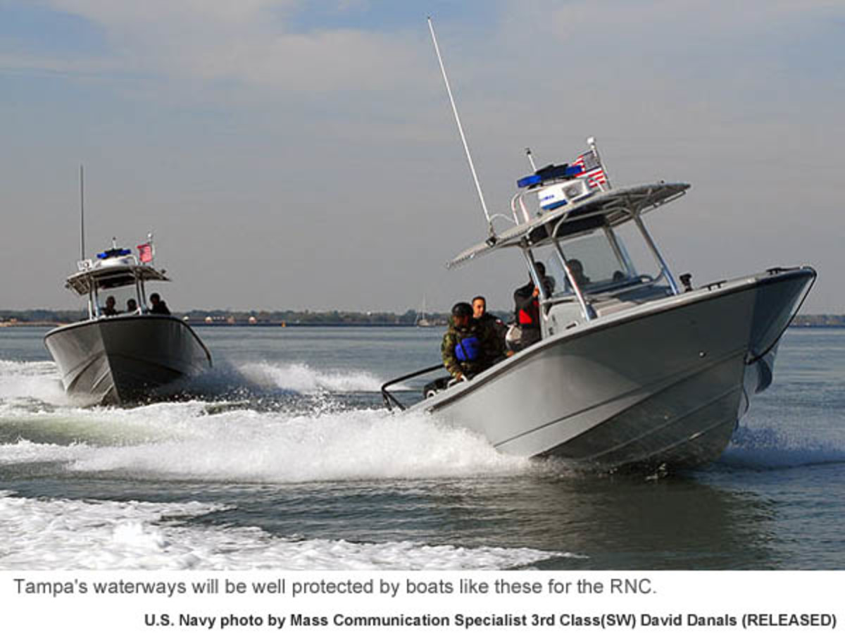 Tampa's waterways will be well protected by boats like these for the RNC. Photo credit: U.S. Navy photo by Mass Communication Specialist 3rd Class(SW) David Danals (RELEASED)