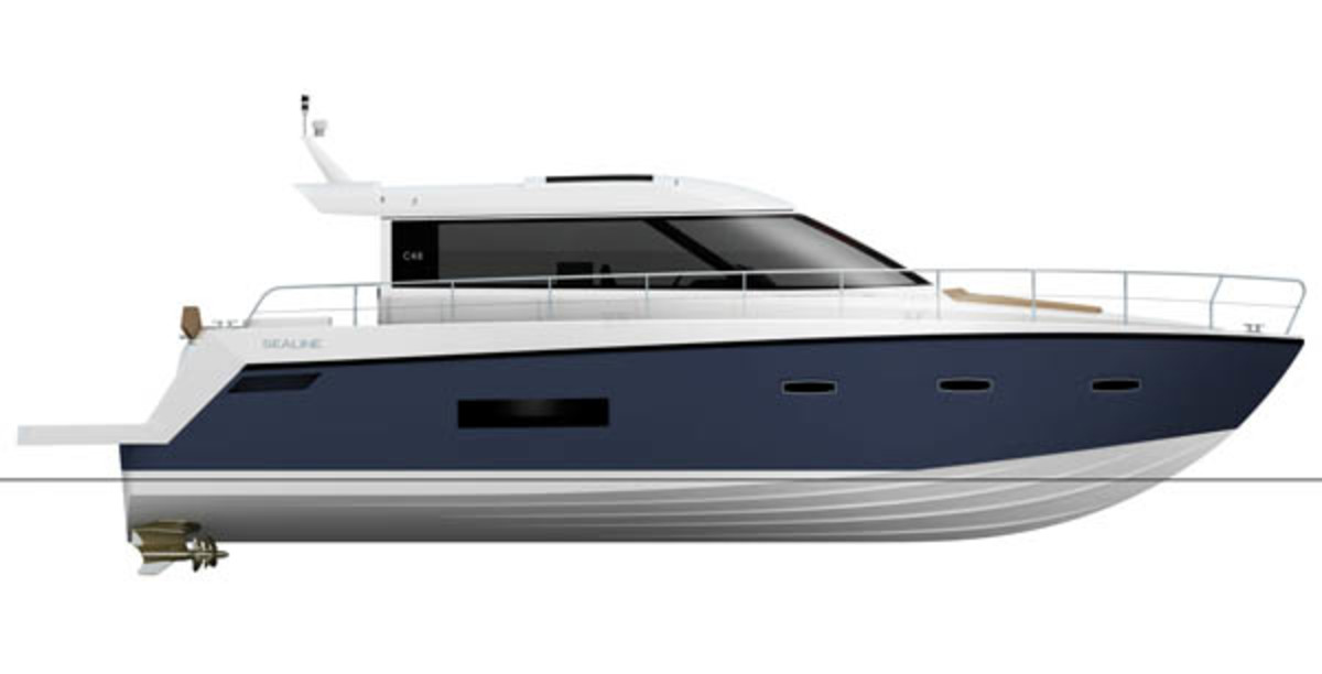 Sealine C48 profile rendering