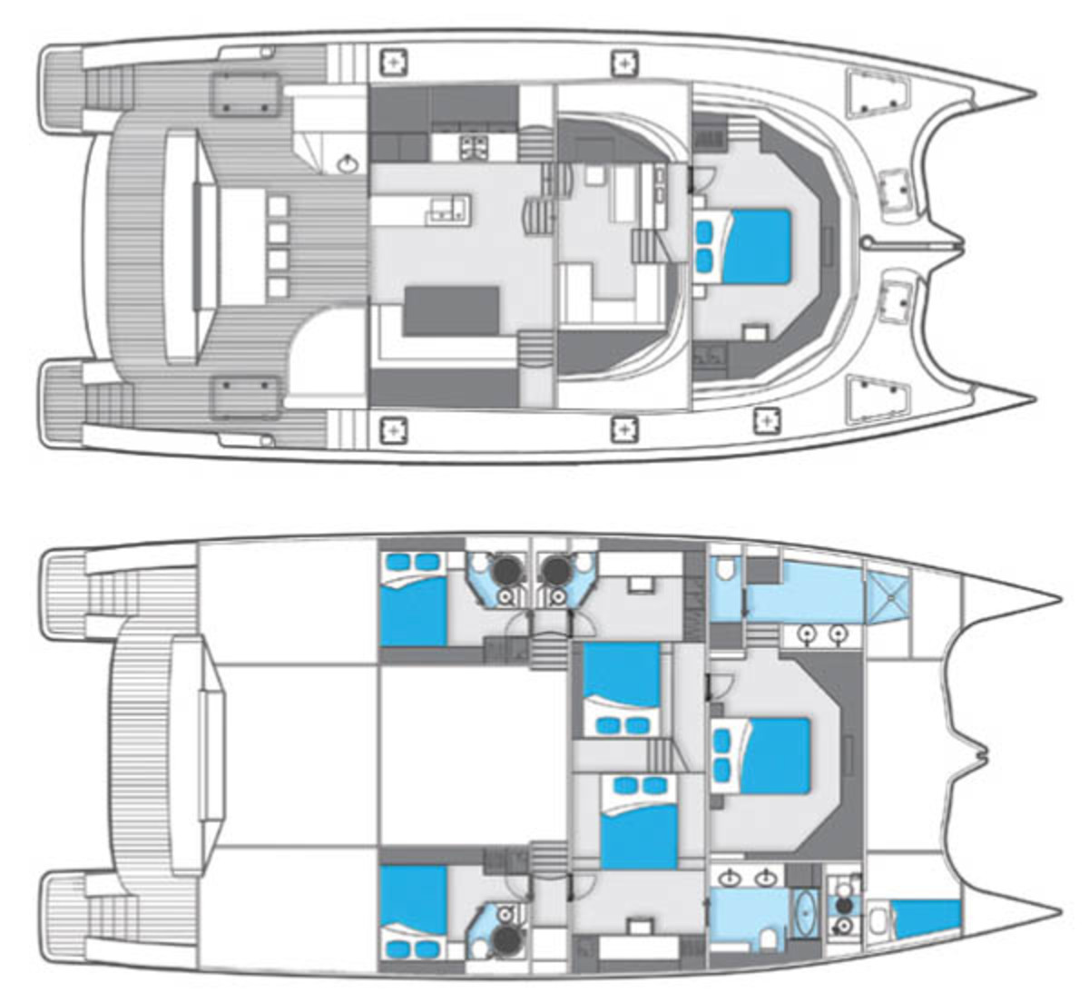 Sunreef 70 layout diagrams
