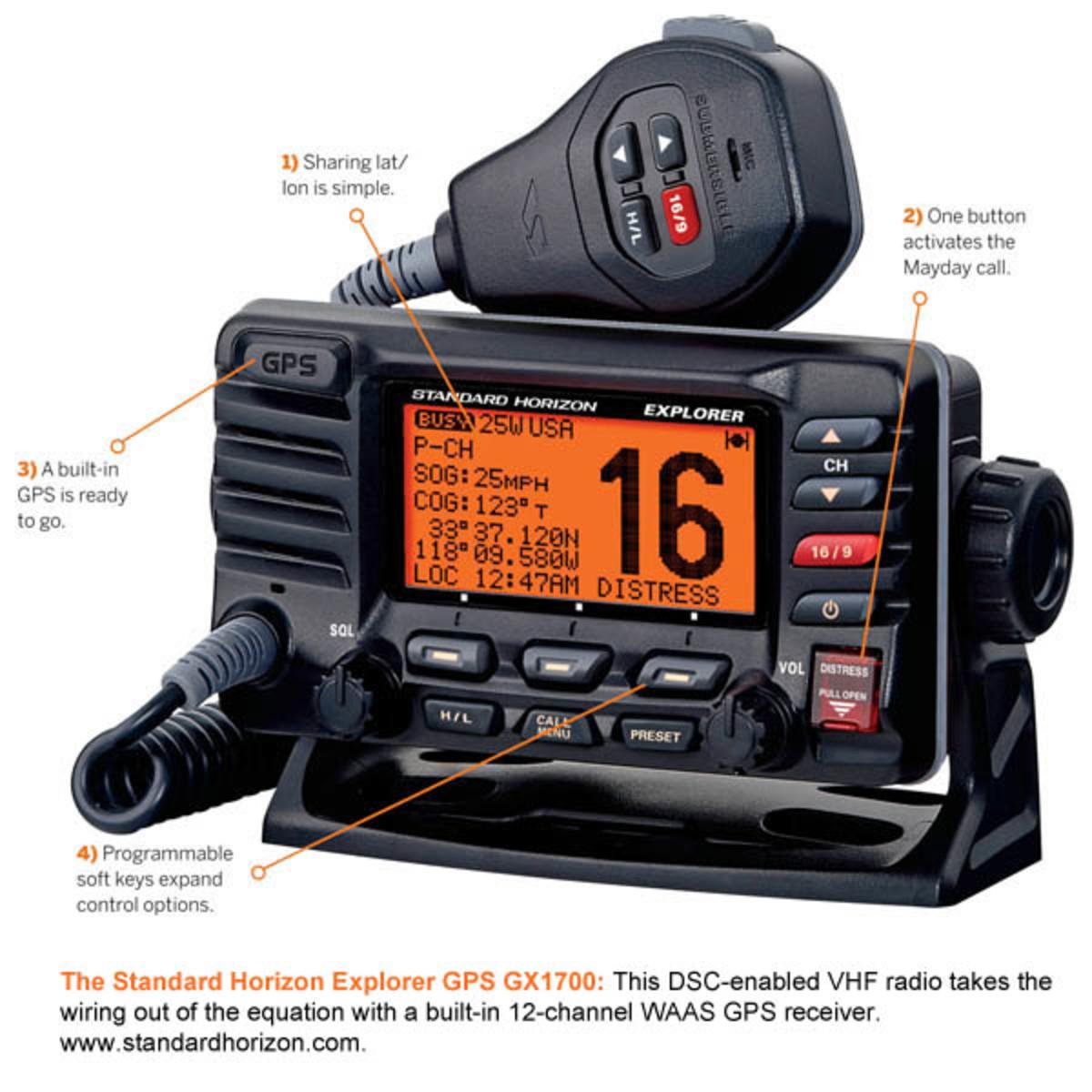 The Standard Horizon Explorer GPS GX1700