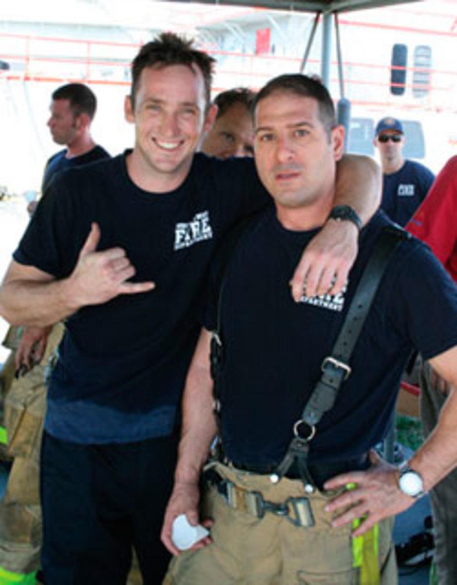 Brandon Bartlett, left, and Gary Dolins