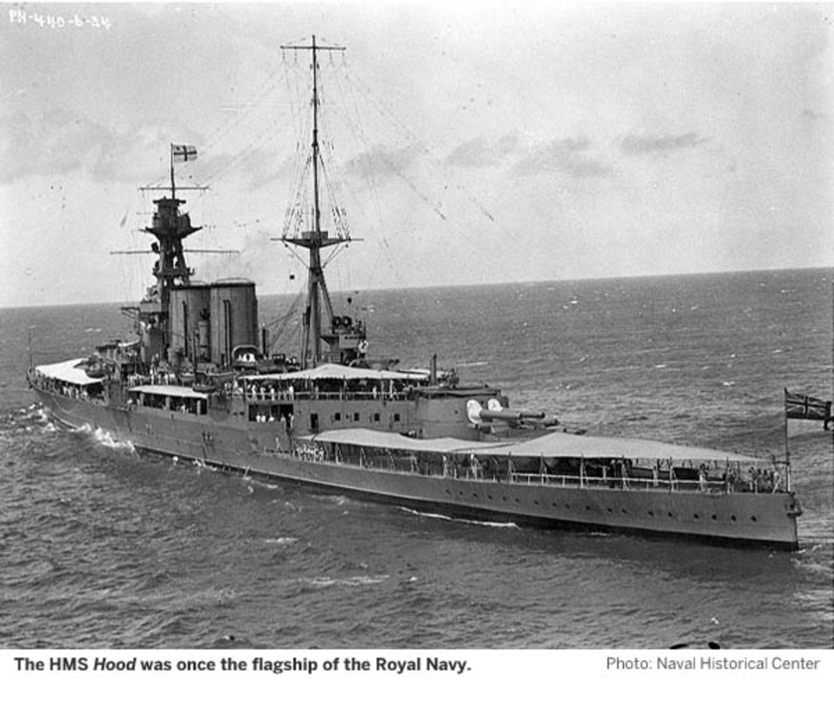 The HMS Hood was once the flagship of the Royal Navy. Photo Credit: Naval Historical Center