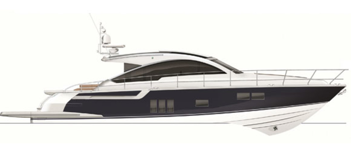Fairline Targa 62GT - profile diagram