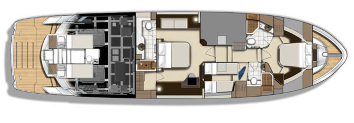 Marquis 630 layout diagram - lower deck