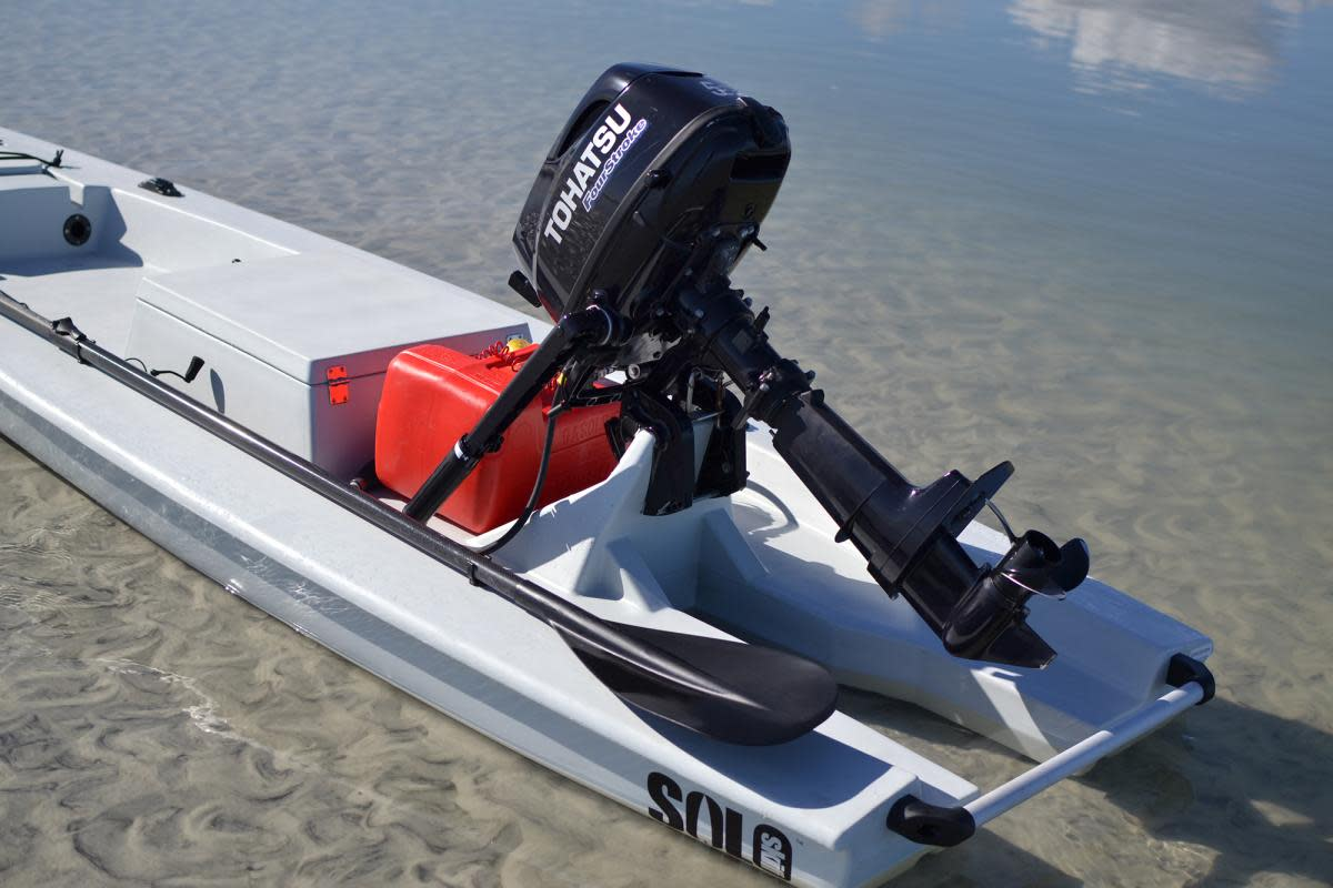 Solo Skiff outboard engine