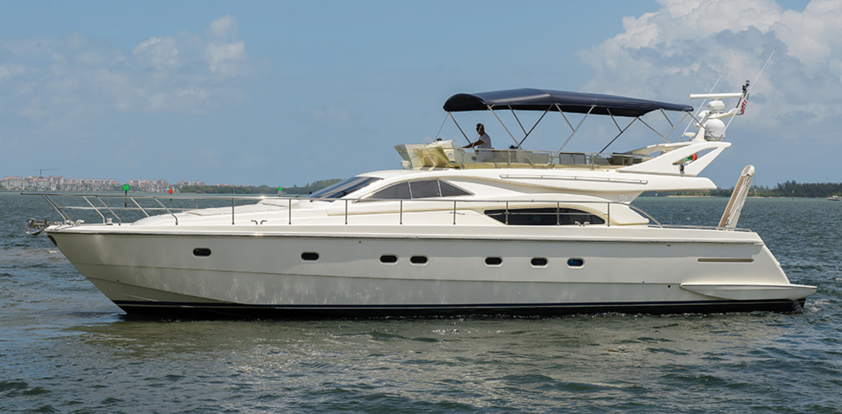 used boat review ferretti 57 flybridge motoryacht power
