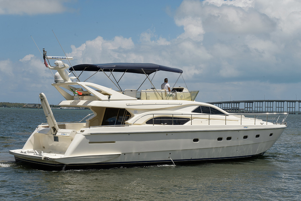 Ferretti 57 Flybridge Motoryacht, Photography by Charlie Clark