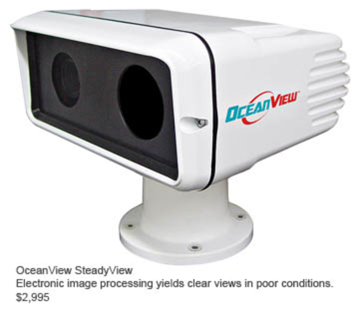 OceanView SteadyView: Electronic image processing yields clear views in poor conditions.