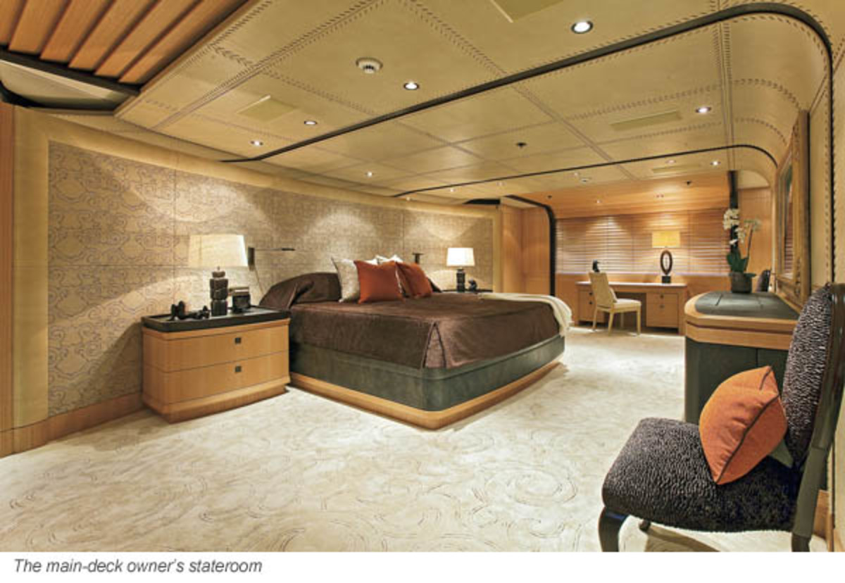 The main-deck owner's stateroom