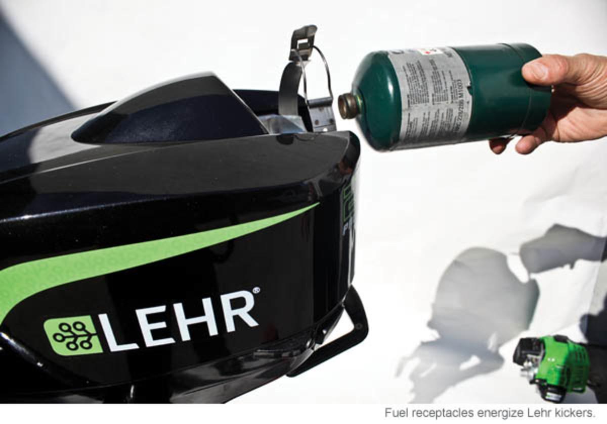 Fuel receptacles energize Lehr kickers.
