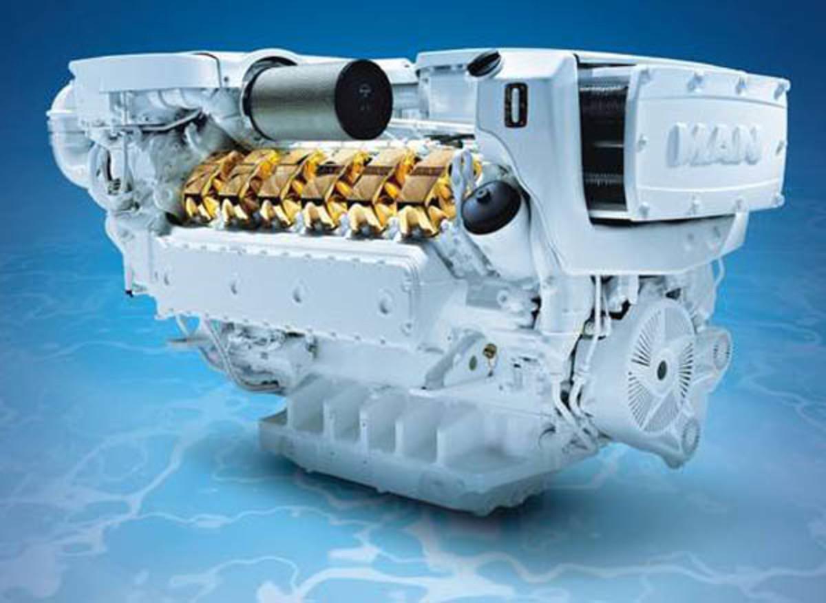 MAN V12-1650 Diesel engine