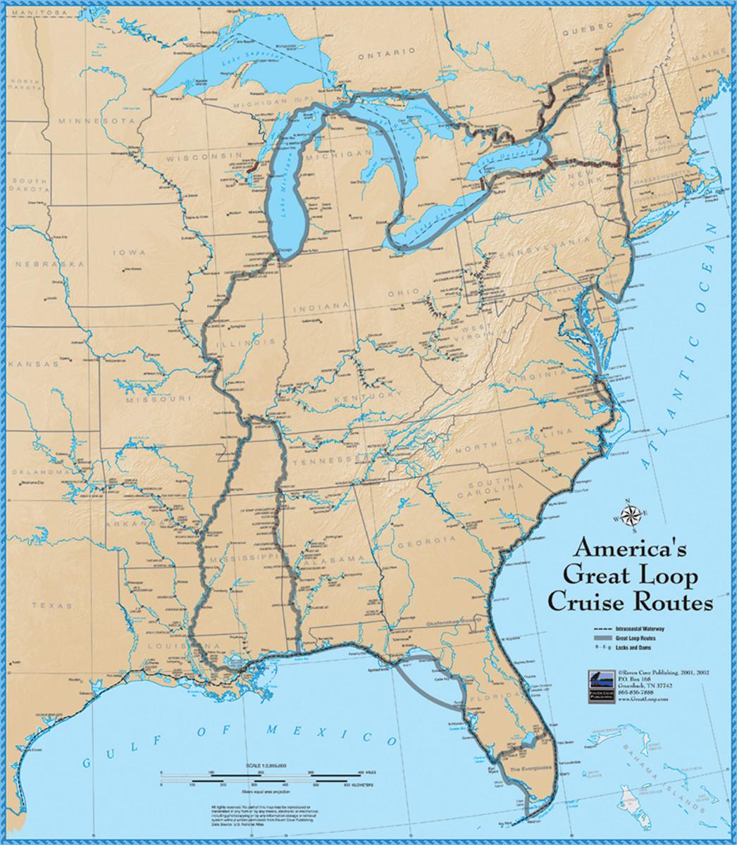 Map of America's Great Loop