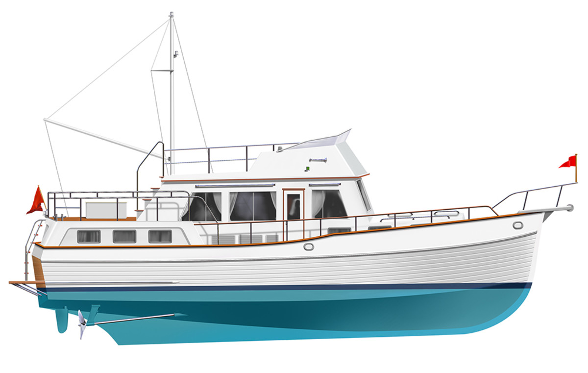 Grand Banks 42 profile rendering