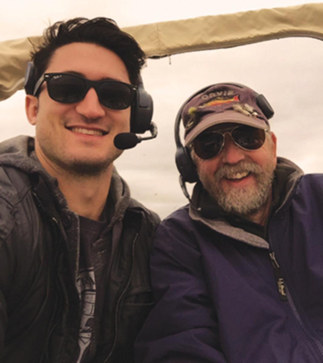 Simon Murray and Capt. BIll Pike