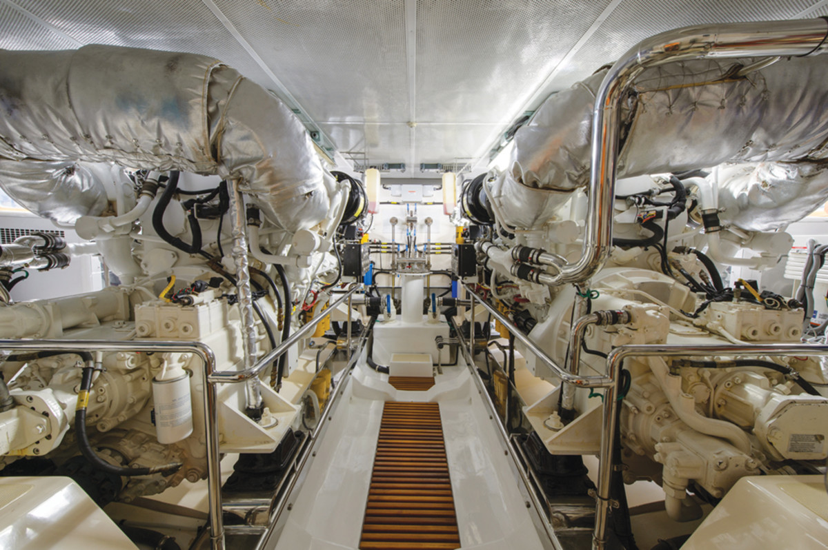 Marlow Explorer 78E engine room