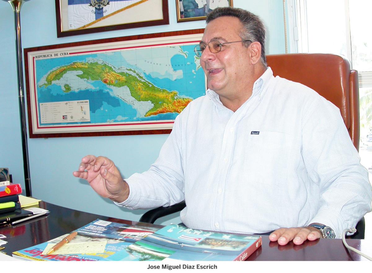 Cuban naval officer Jose Miguel Diaz Escrich
