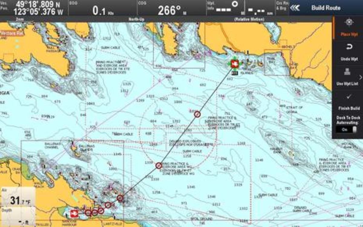 Raymarine Lighthouse r17 Dock-to-dock Autorouting torpedo testing