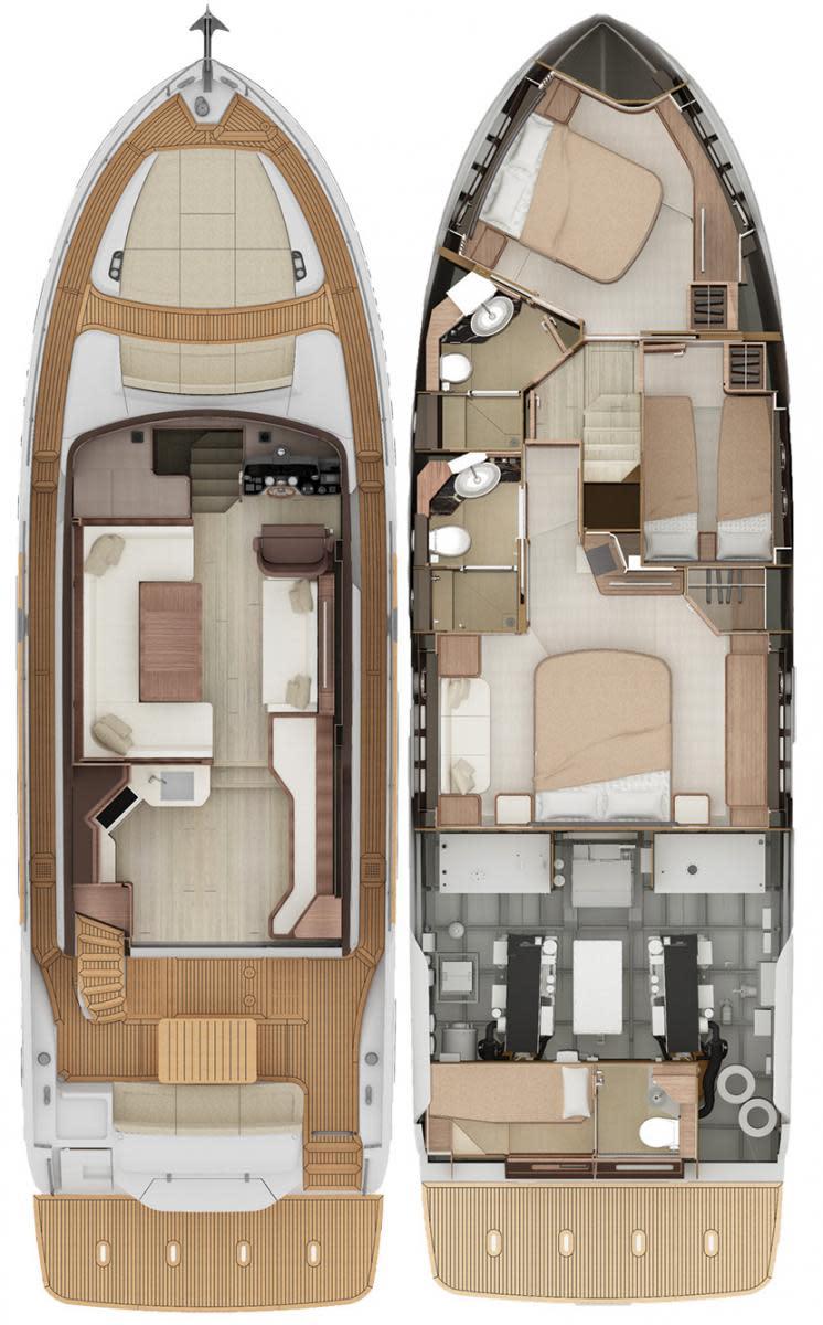 Absolute Navetta 52 deckplans