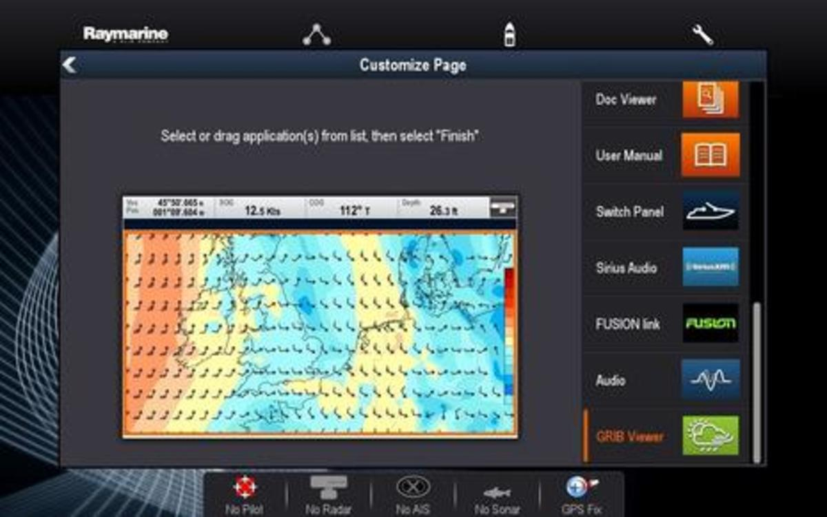 Raymarine Lighthouse r17 Customize Page