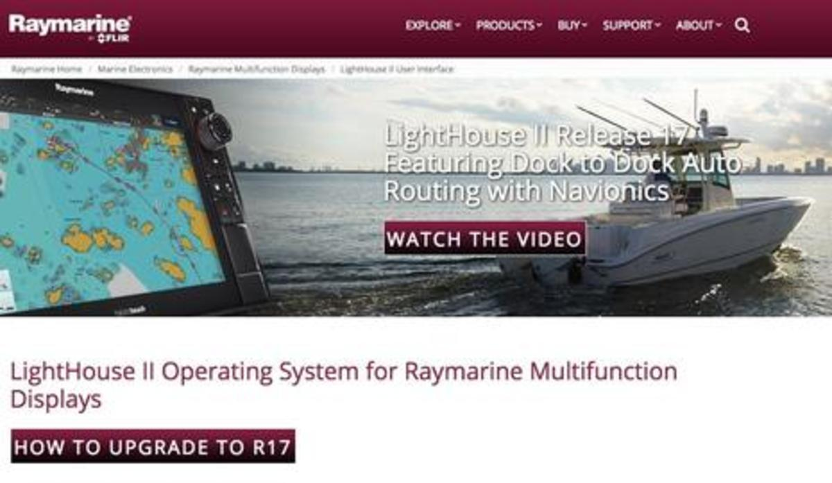 Raymarine Lighthouse r17 Announcement