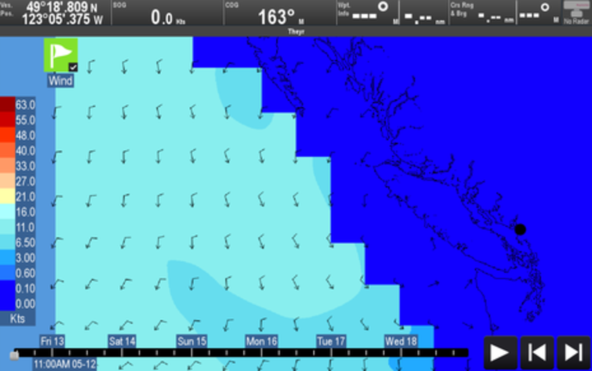 Raymarine LightHouse R17 part 1: hands-on new weather viewer, WiFi