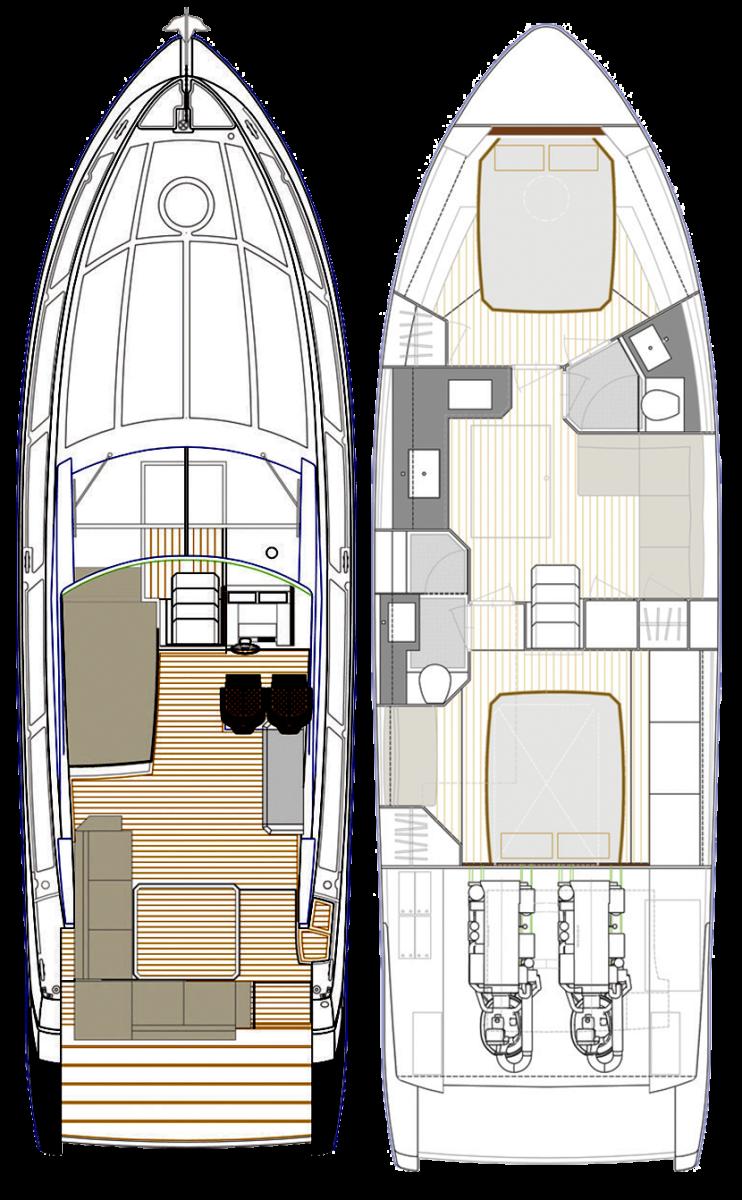 Rio Yachts 42 Air layout diagram