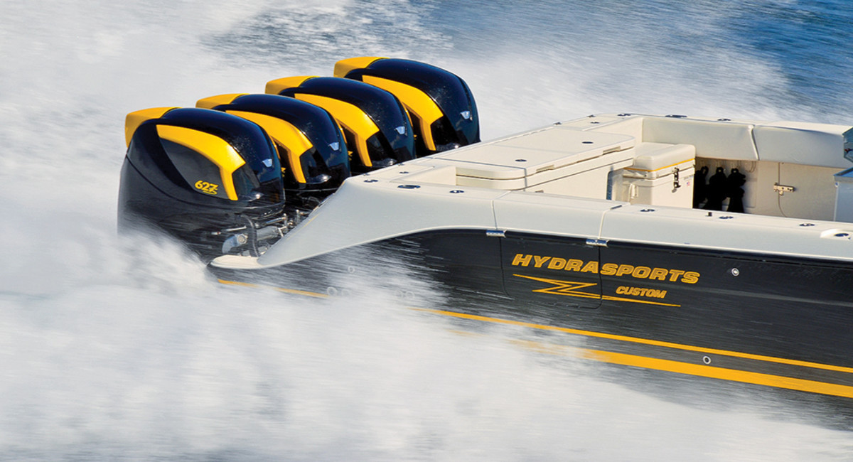 Hydrasport with quad outboards