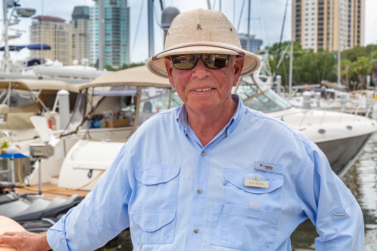 Vinoy Dock master Wes Stevens- photo by Jim Raycroft