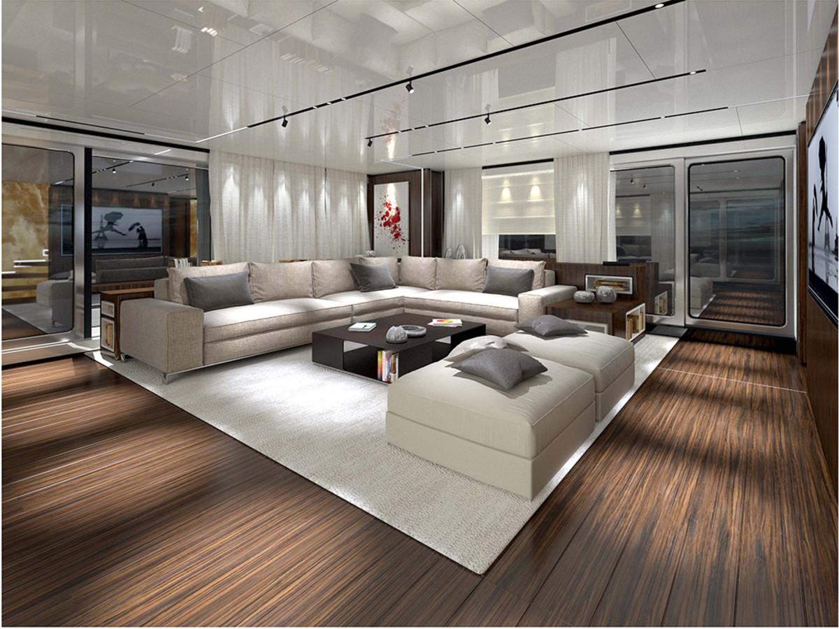 Baglietto 46M Fast - Upper deck saloon