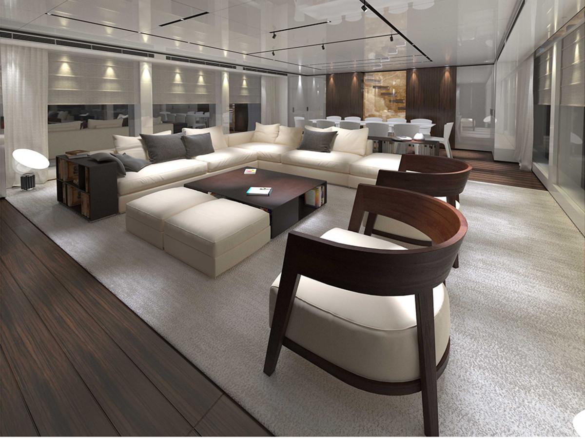 Baglietto 46M Fast - Main deck saloon