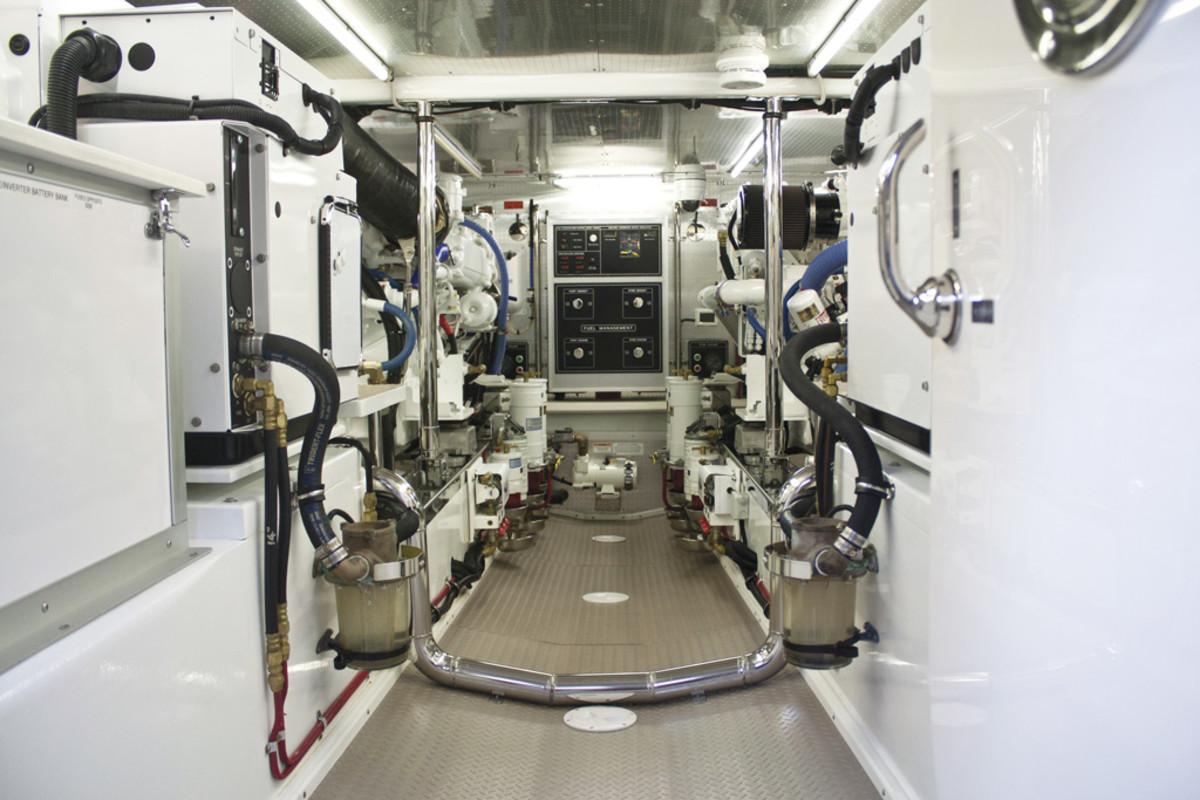 Fleming 65 Engine Room