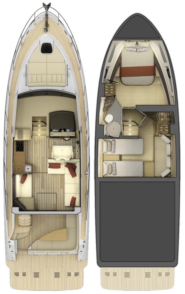 Sea Ray 400 Fly layout diagram