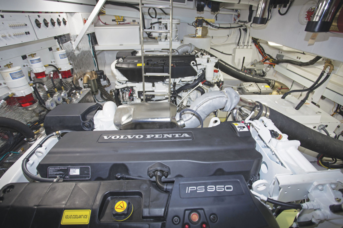 Cruisers 54 Cantius Engine Room
