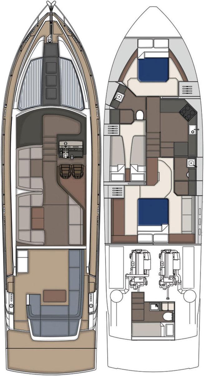 Fairline Targa 53GT layout diagram