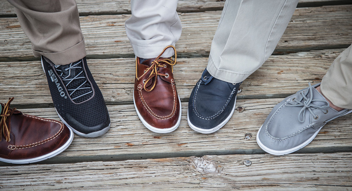 Sebago marine shoes worn by the Power & Motoryacht crew