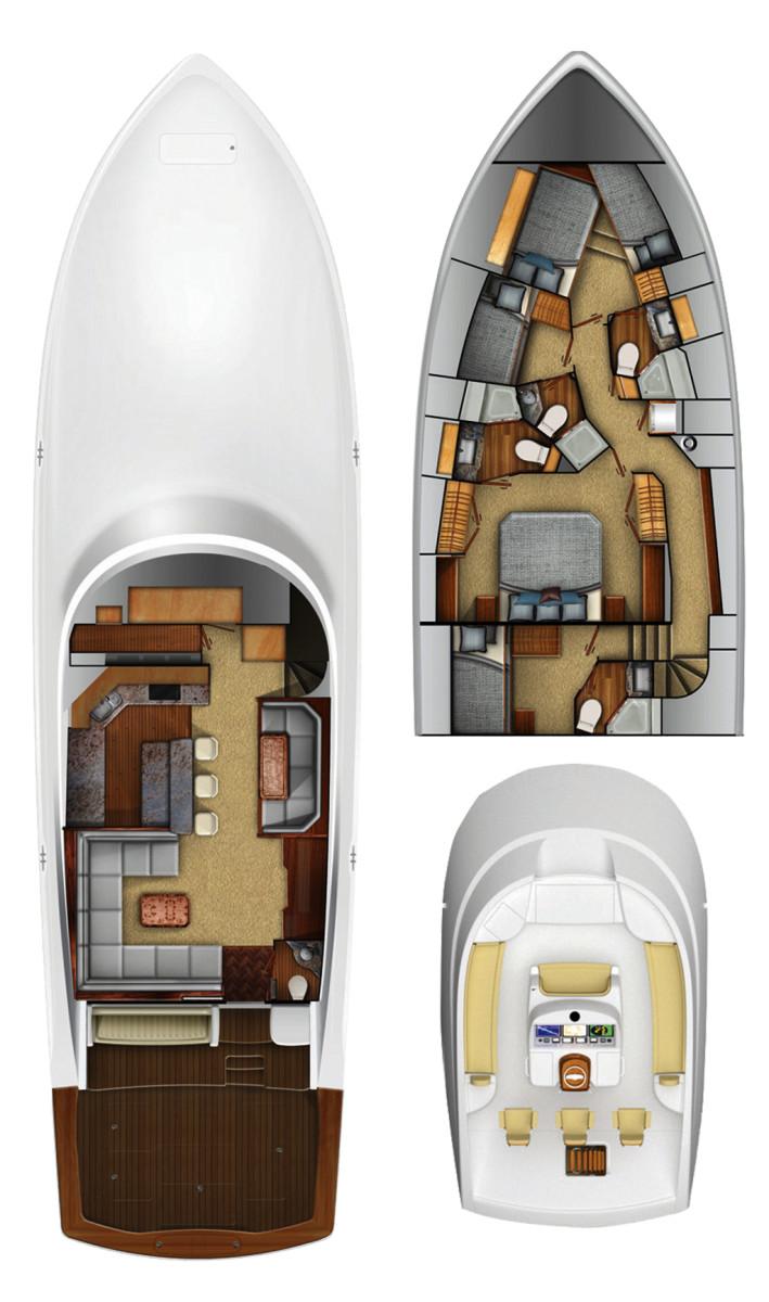 Viking 72 Convertible layout diagram