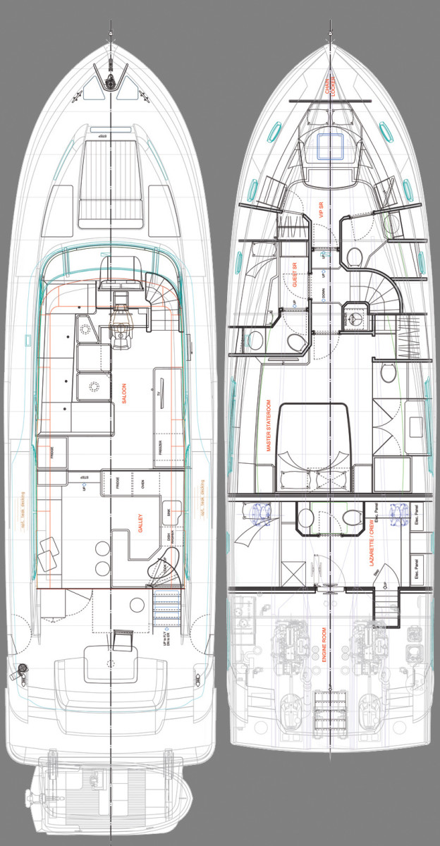 Outer Reef Trident 620 layout diagram