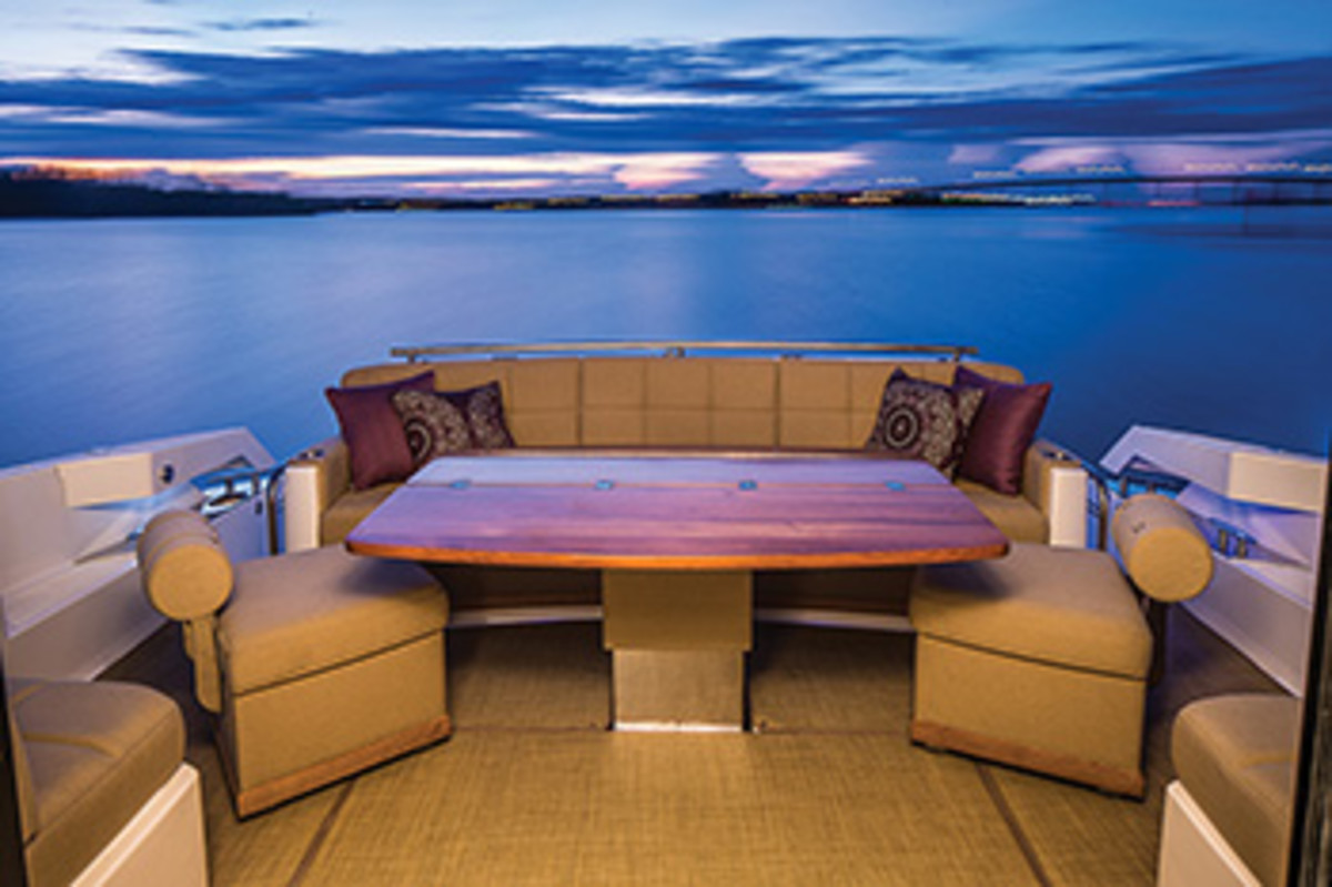 Carpeting on a Tiara Yachts 50 Coupe