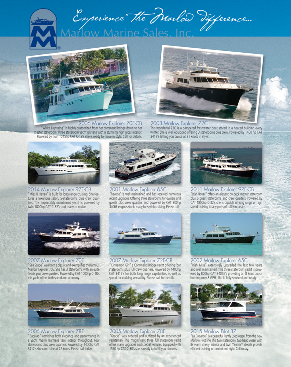 August 2016 Select Brokerage - Power & Motoryacht
