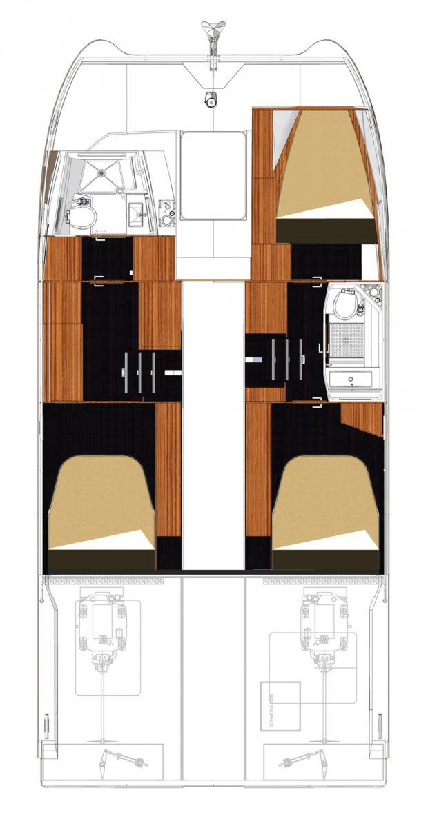 Fountaine Pajot 37 layout diagram