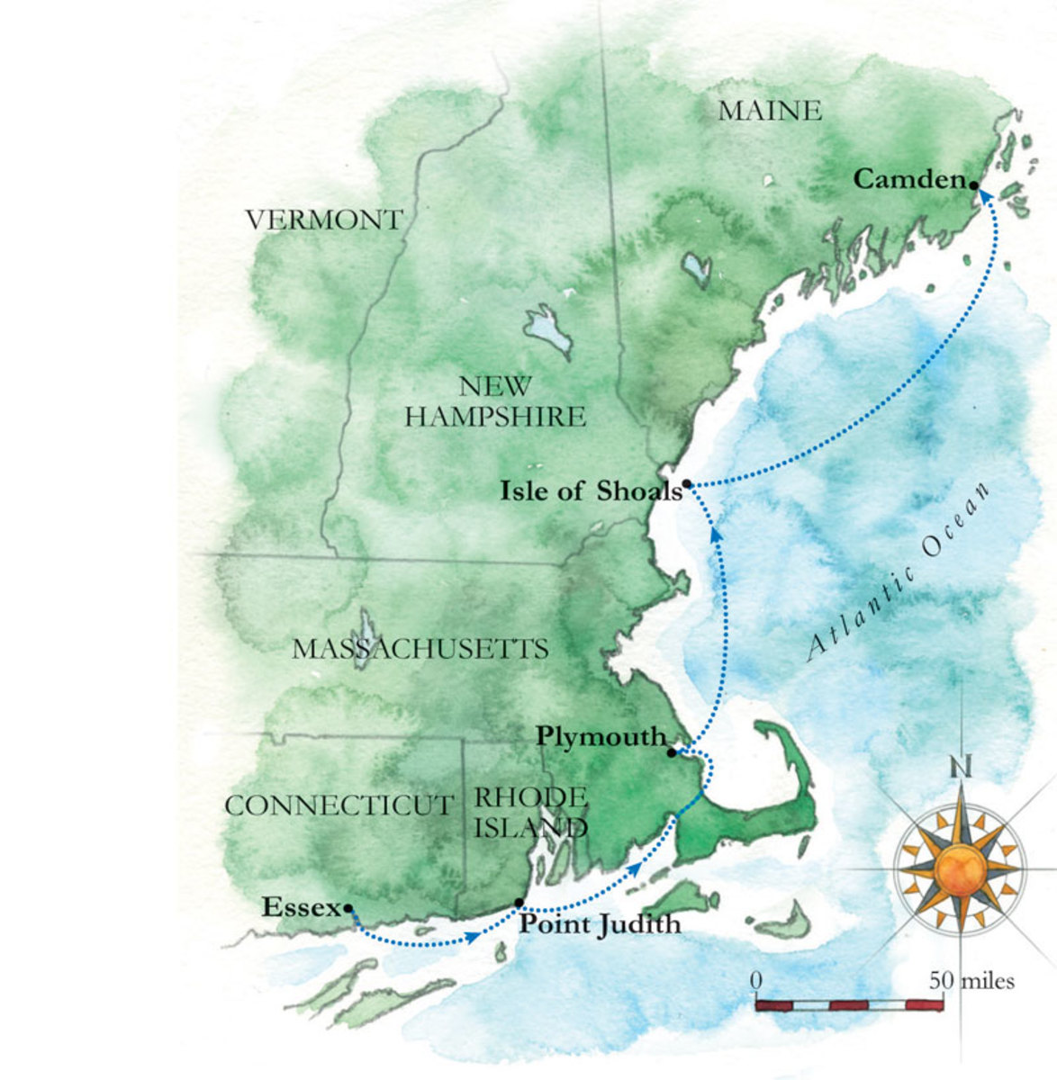 New England Coast Map