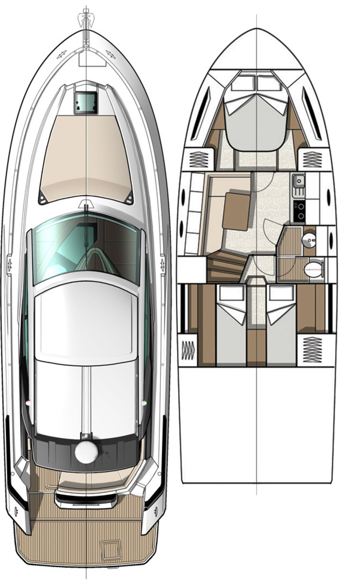 Beneteau GT40 layout diagram
