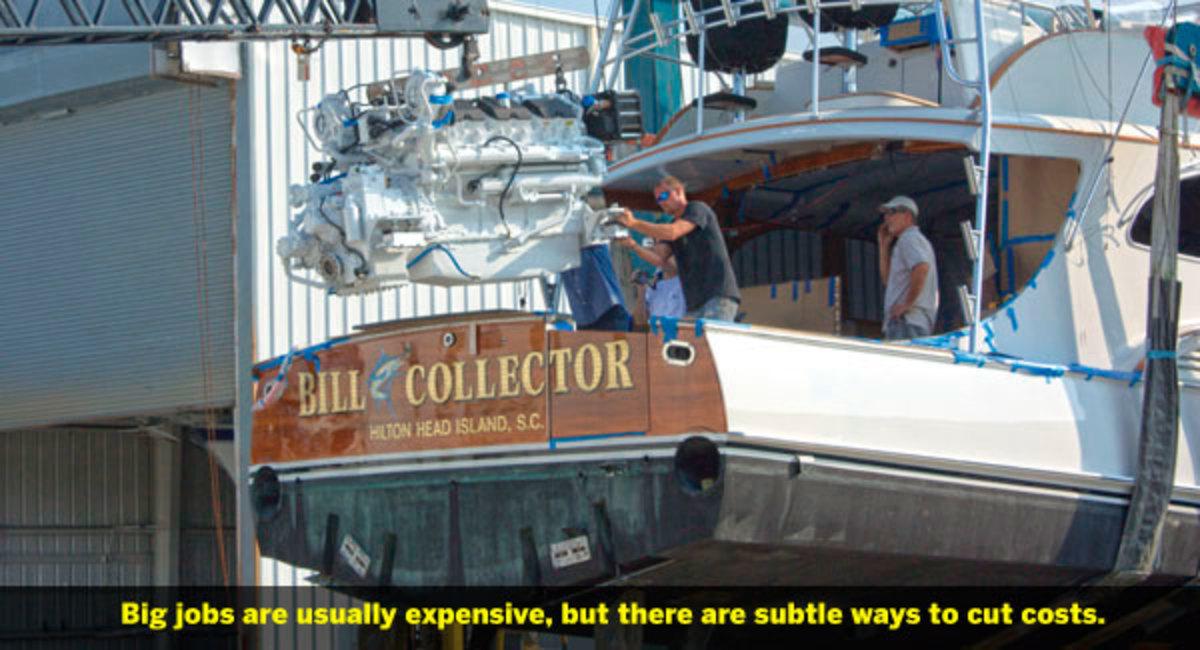 Replacing an inboard engine