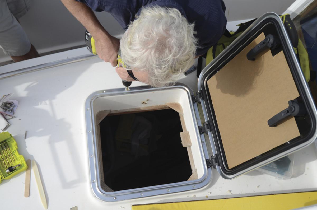 securing frame to deck