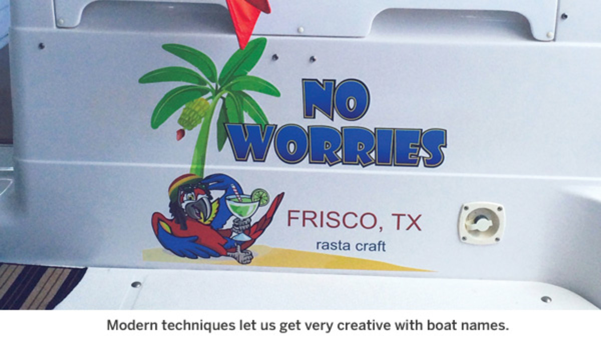 Creative boat name